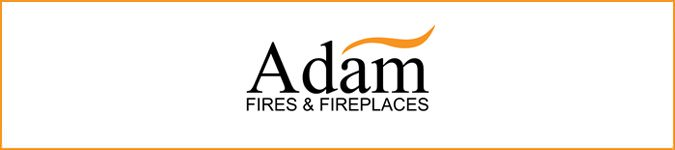 Adam fires and fireplaces logo