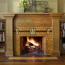 blog-hist of fireplace-art & crafts tile wood surround