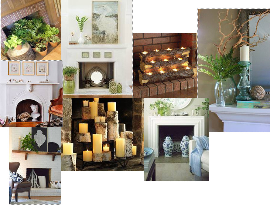 blog-decorating summer fireplace-collage