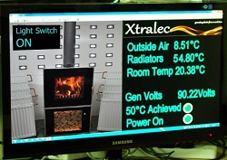 Xtralec Computer readings from stove