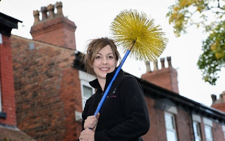 Mum swaps career as an accountant to become a full-time sweep 1