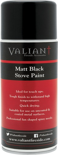 New Matt Black Stove Paint by Valiant