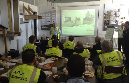 Pellet stove installer training programme is a roaring success. 1