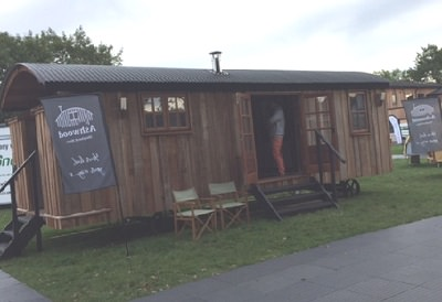 Fluecube exhibits at the glamping show 2