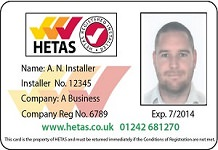 How to check your Solid Fuel Engineer is HETAS Registered