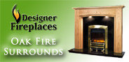 Designer Fireplaces Oak side bar ad