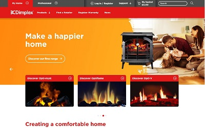 New Dimplex Website Electric Fires Leaders