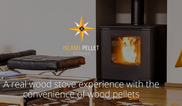 Island pellet stoves a real wood stove experience